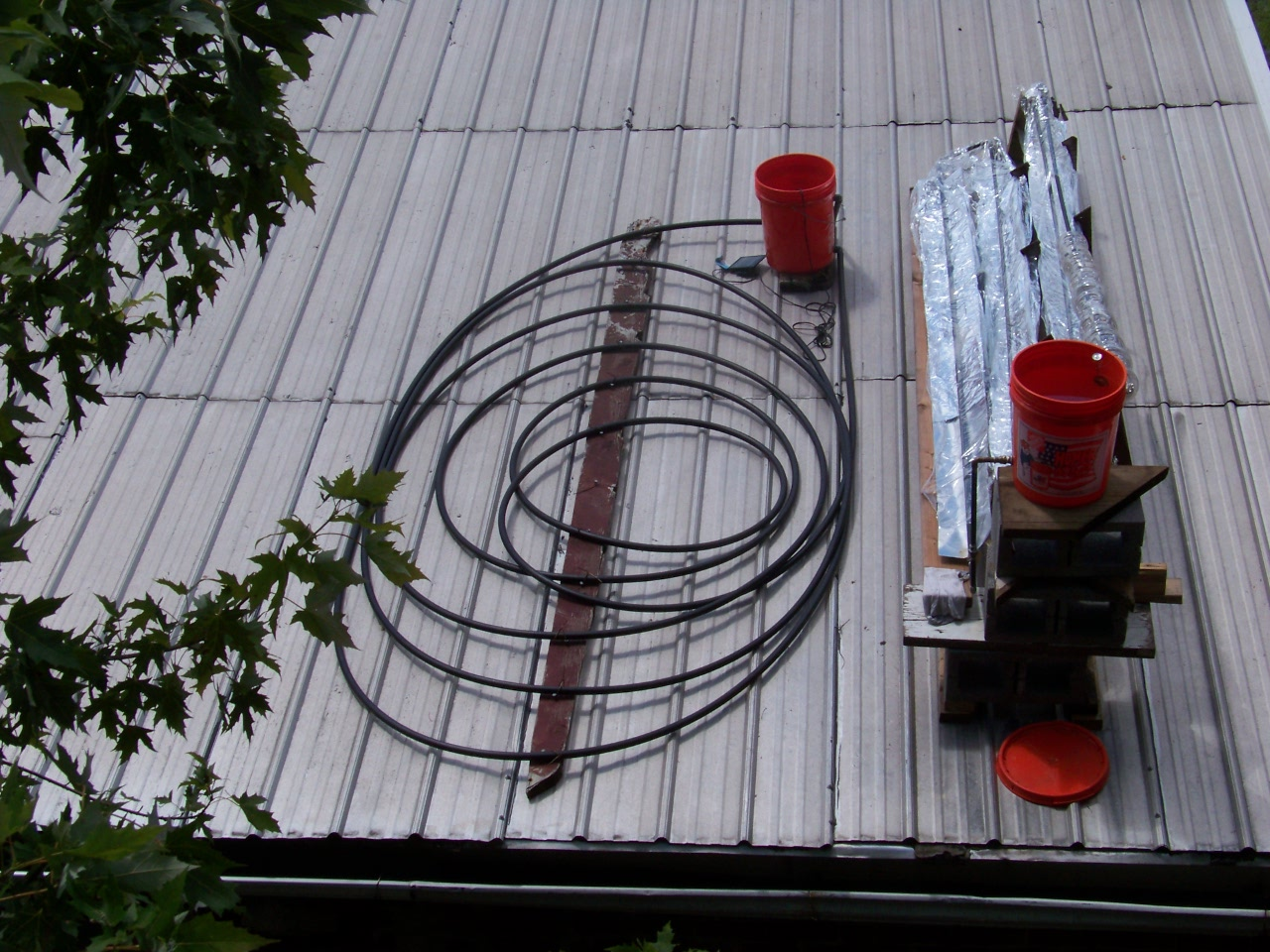 SOLAR EXPERIMENT ON ROOF